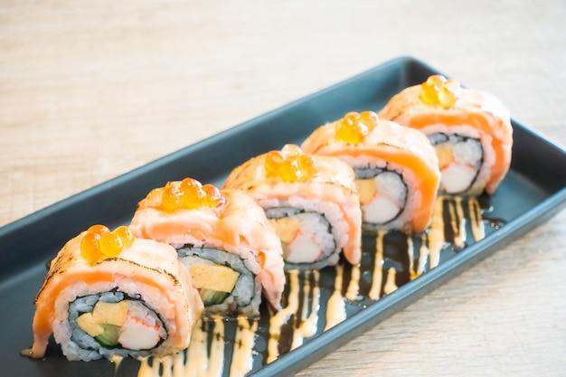 サーモン寿司 無料写真