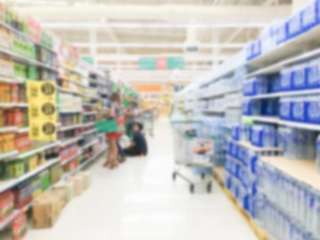 抽象的なぼかし高級小売店やショッピングモールのインテリアの背景 無料写真