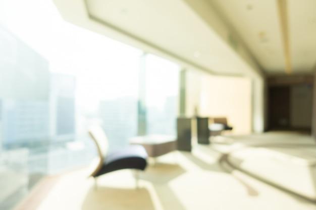 抽象的なぼかしホテルとロビーのインテリアの背景 無料写真