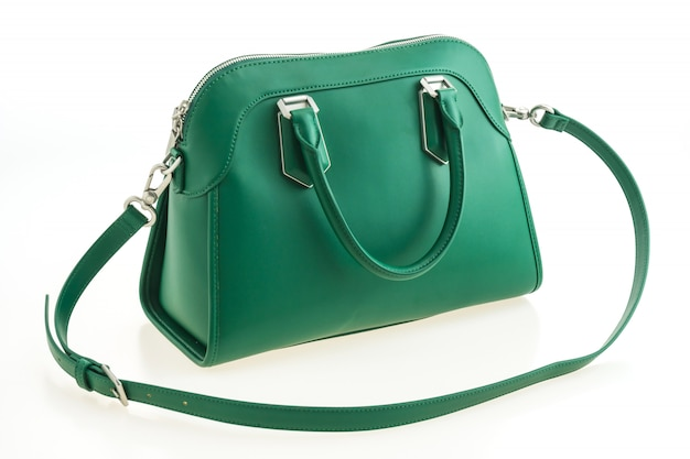 美しい優雅さと贅沢なファッショングリーンハンドバッグ 無料写真