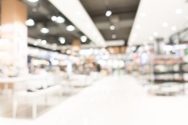 抽象的なぼかしショッピングモールのインテリア 無料写真