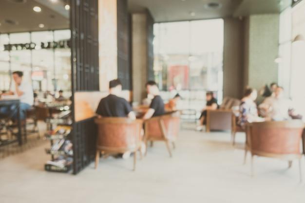 抽象的なぼかしコーヒーショップ 無料写真