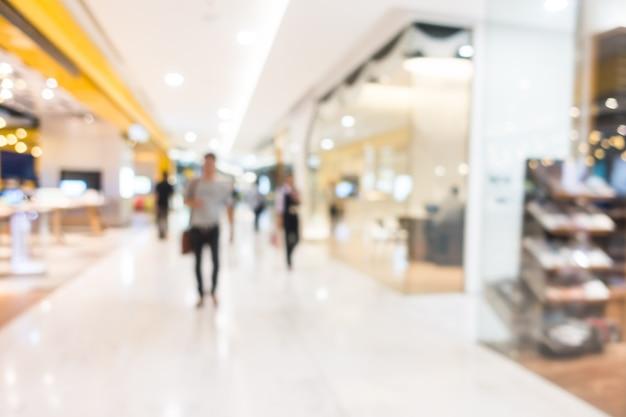 抽象的なぼかし美しい高級ショッピングモールや小売店 無料写真