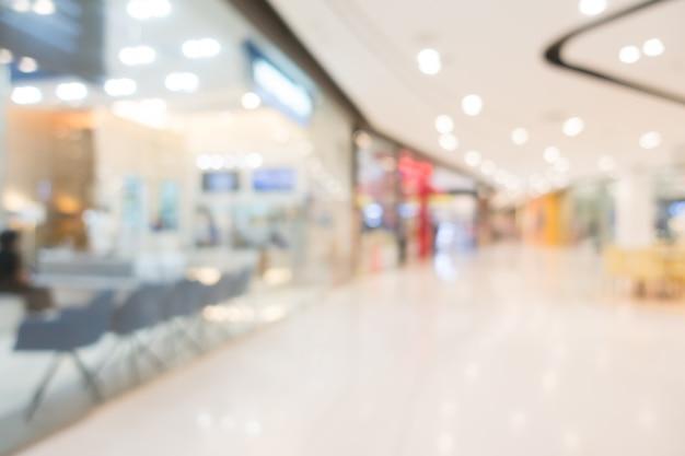 抽象的なぼかしショッピングモールと小売店 無料写真