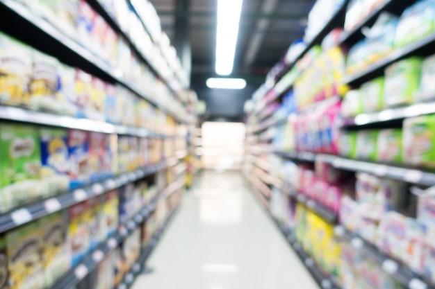デパートで抽象的なぼかしスーパーマーケット 無料写真
