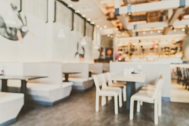 コーヒーショップをぼかし 無料写真