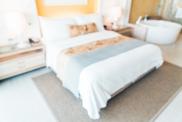ホテルの部屋をぼかし 無料写真