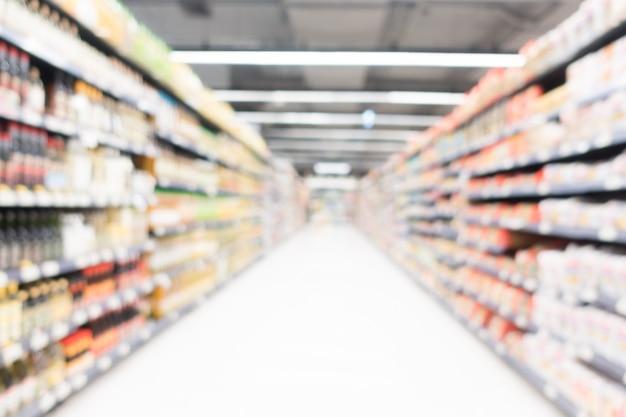 抽象的なぼかしスーパーマーケット 無料写真
