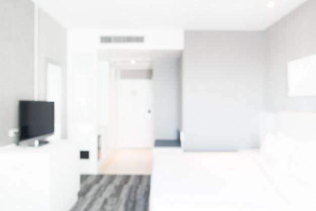 抽象的なぼかし寝室のインテリア 無料写真