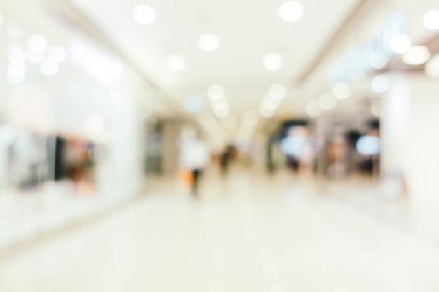 抽象的なぼかしとデフォーカスショッピングモール 無料写真