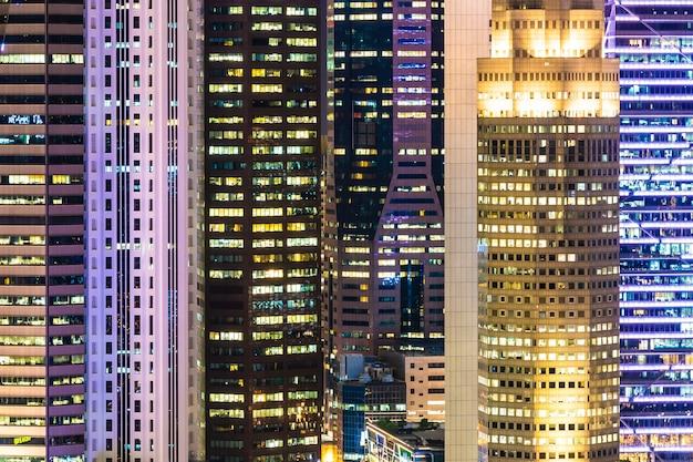 Красивая архитектура здания экстерьера города сингапура Бесплатные Фотографии