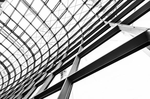 抽象的なガラス窓屋根建築外装 無料写真