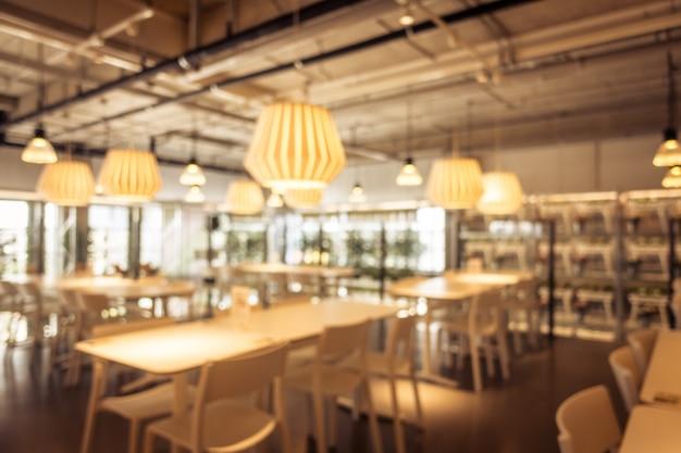 抽象的なぼかしとデフォーカスコーヒーショップカフェとレストラン 無料写真