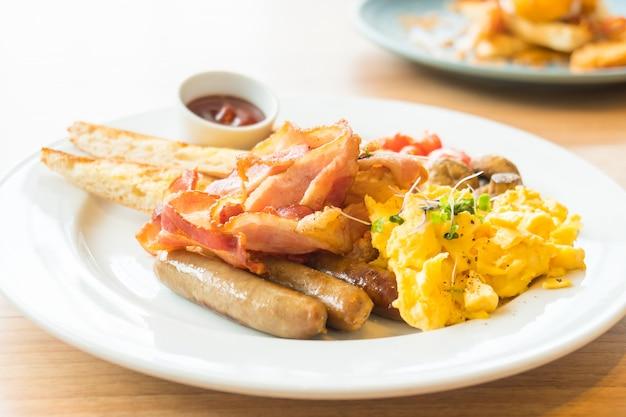 英語の朝食 無料写真