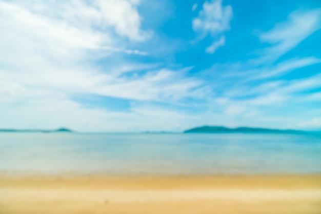Абстрактные размытия и расфокусированным тропический пляж Бесплатные Фотографии
