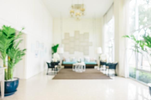 抽象的なぼかしとデフォーカスリビングルームのインテリア 無料写真
