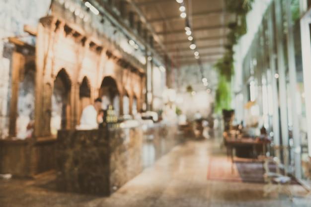 抽象的なぼかしとデフォーカスレストラン 無料写真