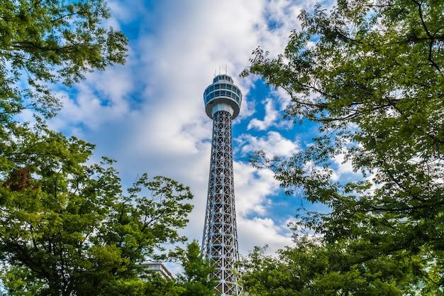 マリンタワーの美しい外観の建物 無料写真