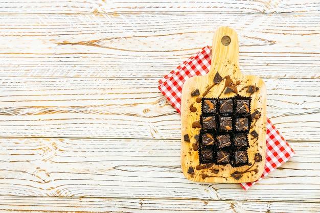 チョコレートブラウニーケーキ 無料写真