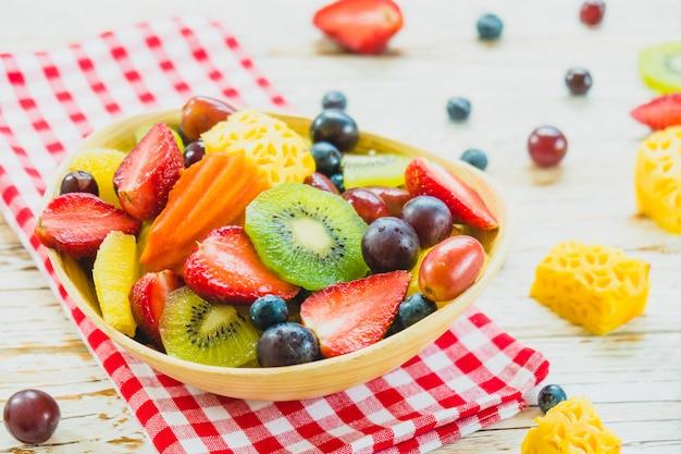 混合果物と盛り合わせフルーツ 無料写真