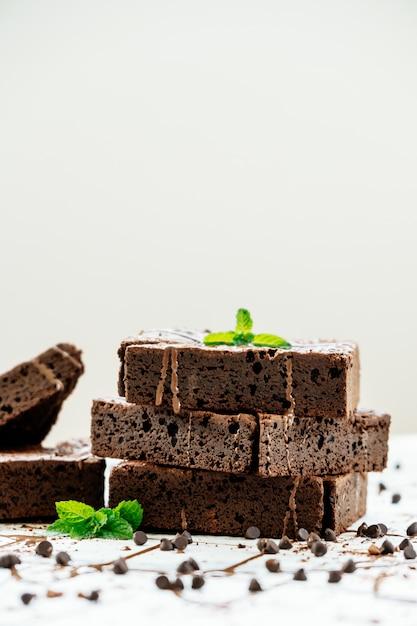 チョコレートブラウニー 無料写真