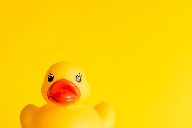 黄色のゴム製のアヒル Premium写真