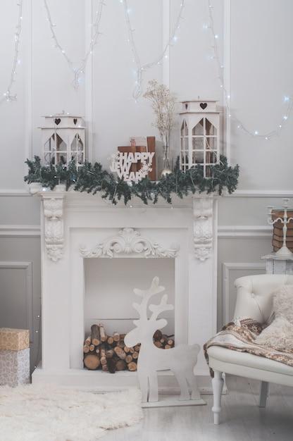 お祝い、クリスマス、新年、冬時間、休日、装飾、デザイン、装飾。アート Premium写真