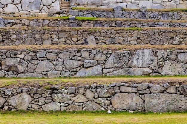 マチュピチュ、クスコ、ペルー、南アメリカ。 Premium写真