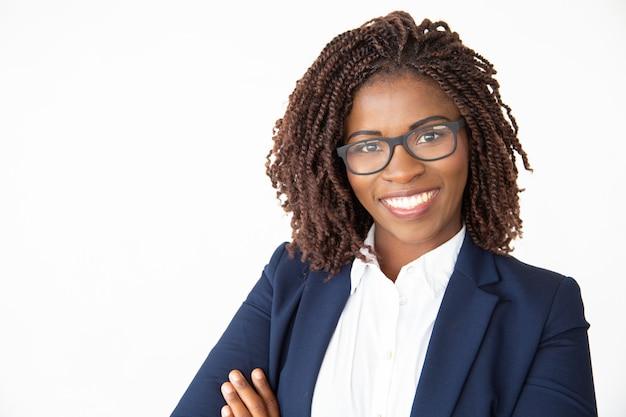 Счастливые уверенно женские профессиональные носить очки Бесплатные Фотографии