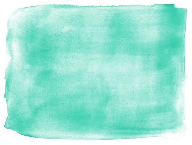 ターコイズブルーの手描きの抽象的な背景 Premium写真
