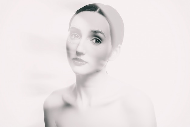 美しい少女の美しさの写真 Premium写真