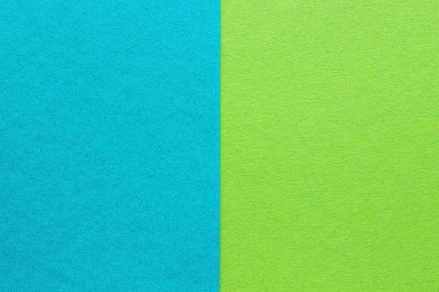 抽象的な青と緑の紙の背景、テクスチャ Premium写真