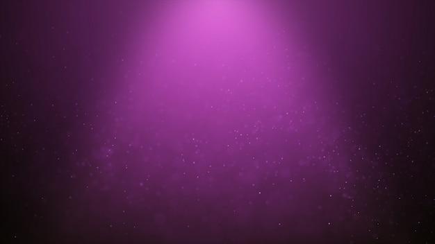 ピンクのダスト粒子が輝く人気の抽象的な背景 Premium写真