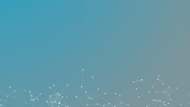 ラインアンドドットテクノロジーの未来的な背景 Premium写真