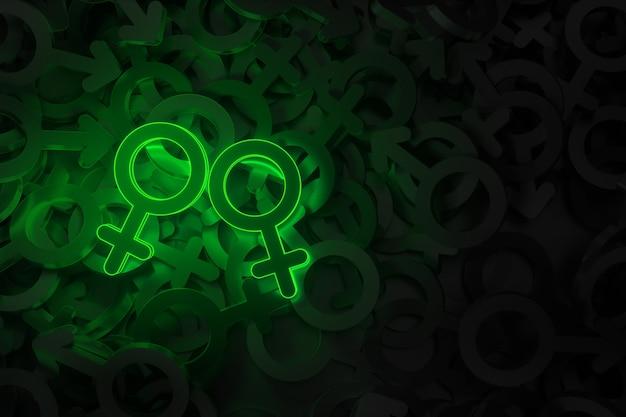 Концепт-арт на тему однополой любви Premium Фотографии