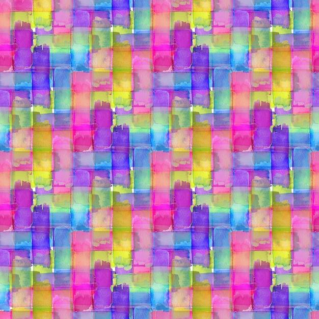 Акварель бесшовный паттерн с красочной текстурой. современный текстильный дизайн. Premium Фотографии
