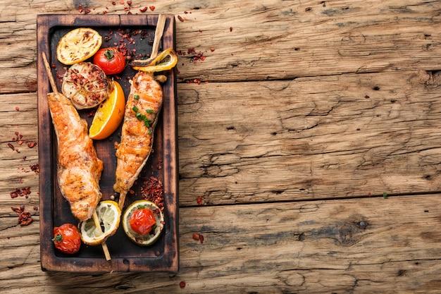鮭の焼き鮭 Premium写真