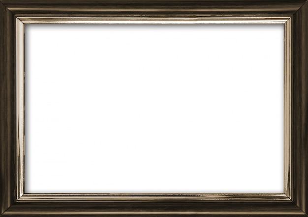 白で隔離され、内部の空き場所を持つ空の図枠 Premium写真