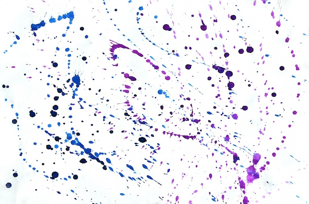 壁紙のカラフルなブルーバイオレットピンク水彩背景。アクワレル鮮やかなカラーイラスト Premium写真