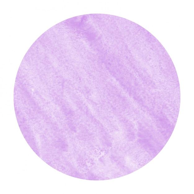 紫色の手描き水彩円形フレームの背景テクスチャの汚れ Premium写真