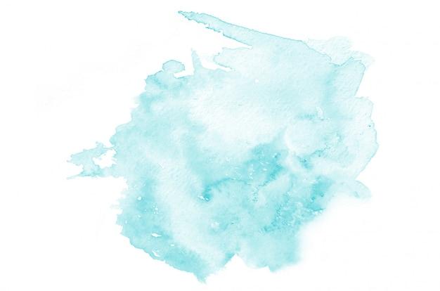 あなたのデザインの手描きの水色の水彩画の形 Premium写真