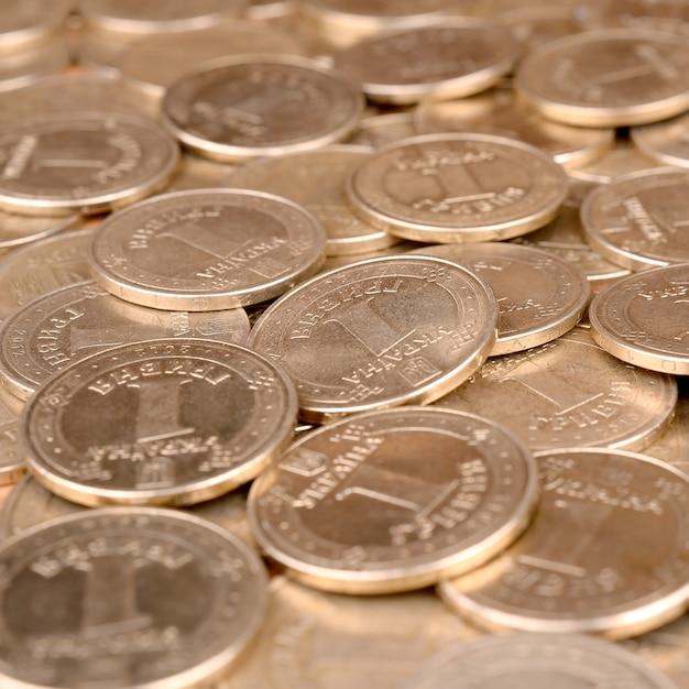 豊かな生活の概念のための経済的な成功ウクライナのお金の背景 Premium写真