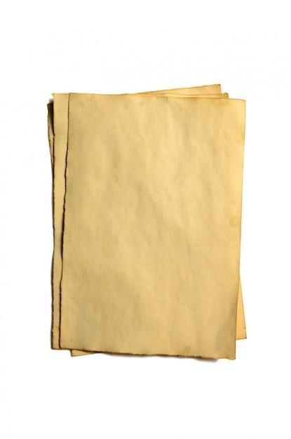 アンティークヴィンテージ崩壊紙原稿や羊皮紙の古い空白部分 Premium写真