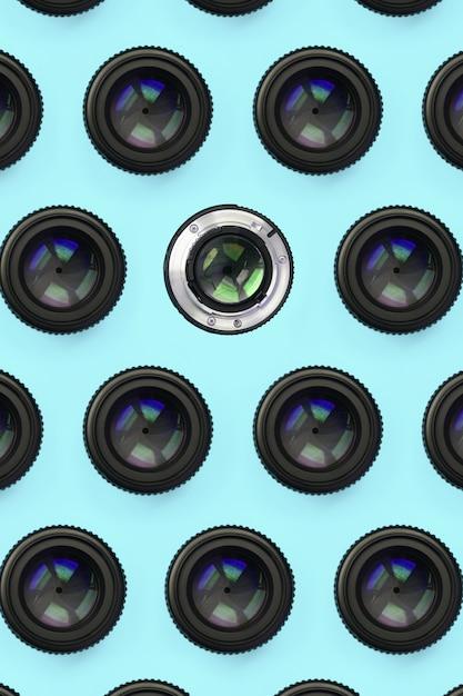 閉じた開口パターンを持ついくつかのカメラレンズ Premium写真