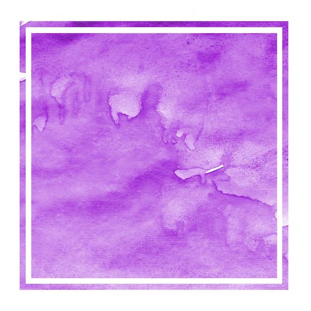紫色の手描きの汚れと水彩長方形フレーム背景テクスチャ Premium写真