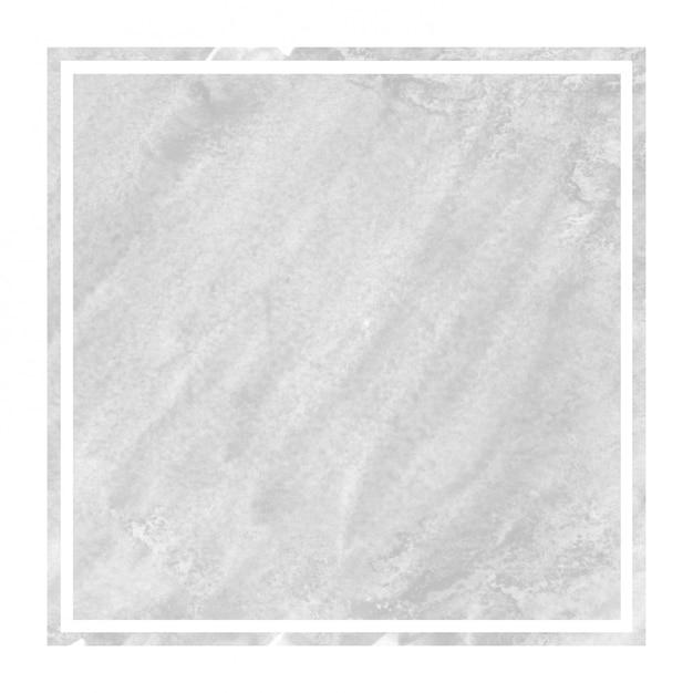 モノクロの手描きの汚れと水彩の長方形フレームの背景テクスチャ Premium写真
