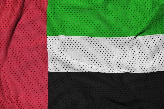 ポリエステルナイロンスポーツウェアファブリックにアラブ首長国連邦旗を印刷 Premium写真
