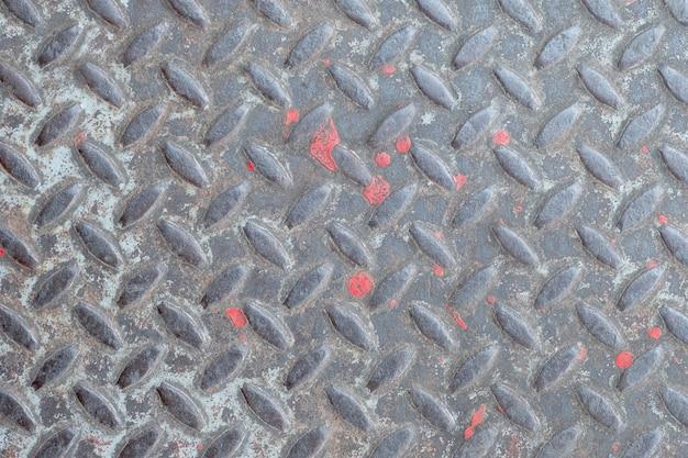 Старая текстура металла, стиль картины алюминиевой плиты стального пола для предпосылки. Premium Фотографии