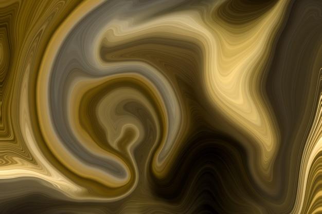 高級ゴールデン液体大理石の背景 Premium写真