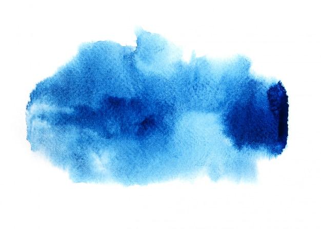 青い水彩背景。 Premium写真